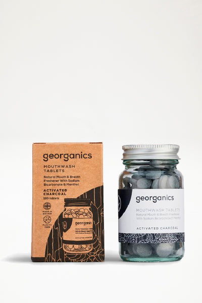 Georganics Mouthwash Tablets - Activated Charcoal