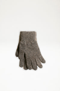 Possum Merino Gloves - Bark