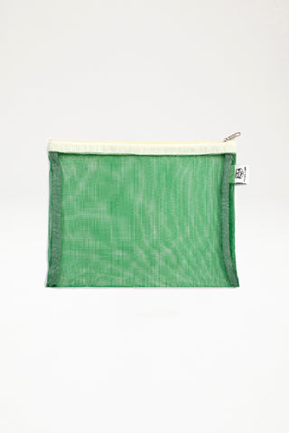 Papier Tigre - Transparent Mesh Pocket - Medium - Green