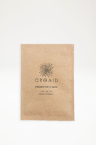 Orgaid Organic Sheet Mask - Anti-aging & Moisturizing