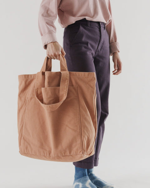 Baggu Giant Pocket Tote - Washed Adobe