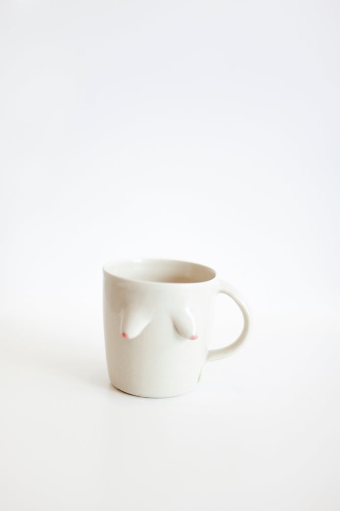 Maddie Deere Boob Cup - White Clay