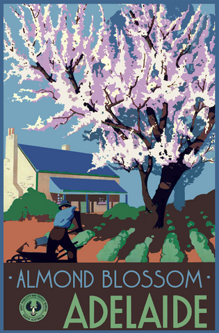 Adelaide Almond Blossoms Poster - A2