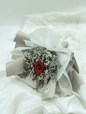 Single stalk preserved rose bouquet