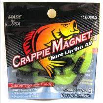"Leland Crappie Magnet 1.5"" 15ct Black-Chartreuse"