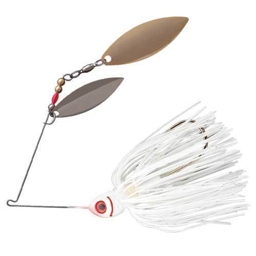 Booyah Counter Strike Double Willow Spinnerbait-Spinnerbaits-Booyah Baits-White-1/2oz-Bass Fishing Hub