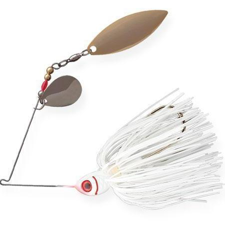 Booyah Counter Strike Tandem Spinnerbait-Spinnerbaits-Booyah Baits-White-1/2oz-Bass Fishing Hub