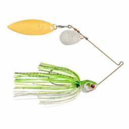 Booyah Covert 1-2oz Chart-White G-N-Willow Tandem-Spinner Baits-Booyah Baits-Bass Fishing Hub