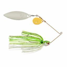 Booyah Covert 3-8oz Chart-White G-N-Willow Tandem-Spinner Baits-Booyah Baits-Bass Fishing Hub