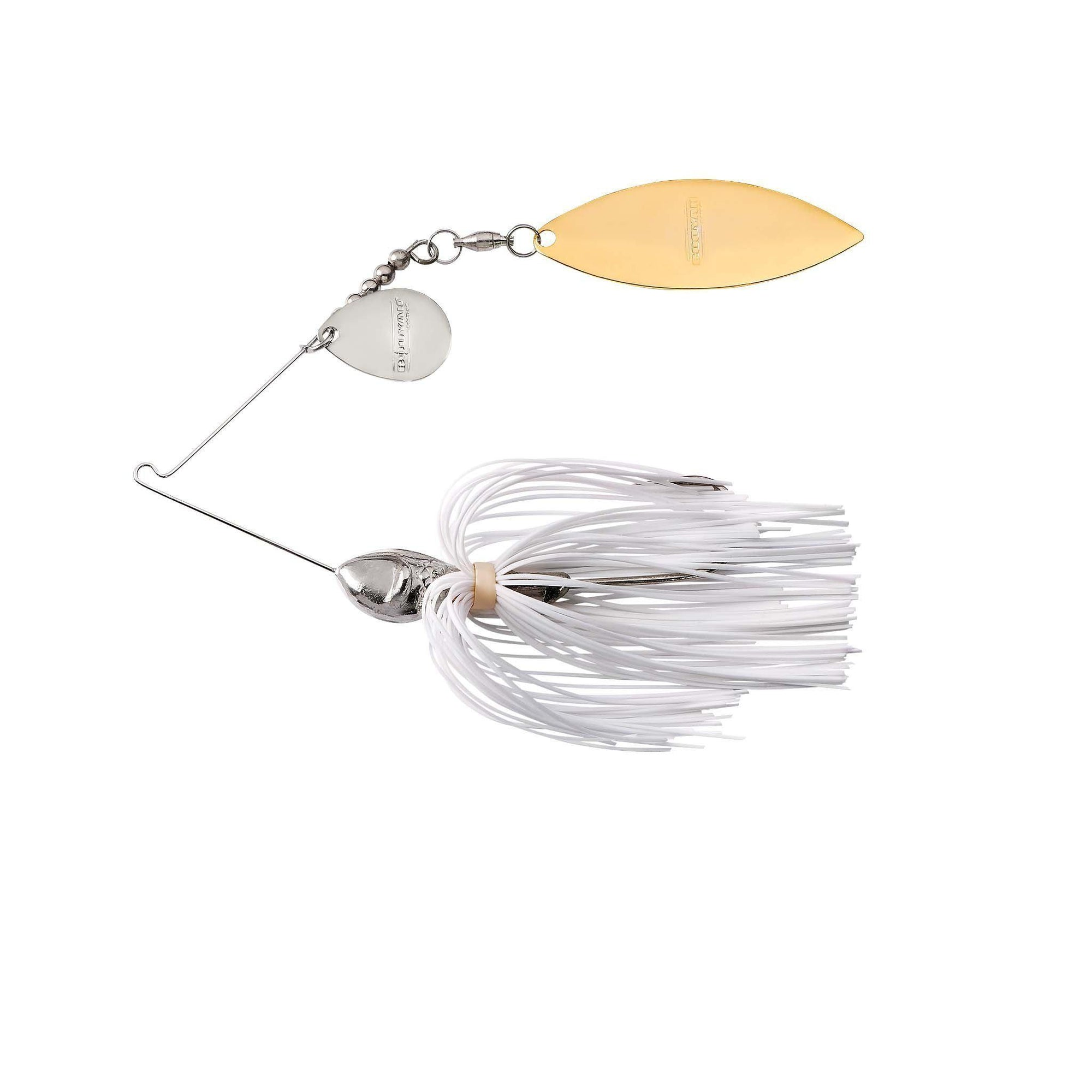 Booyah Vibra Wire Tandem-Spinnerbaits-Booyah Baits-Pearl White-1/2oz-Bass Fishing Hub