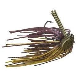 Buckeye Flat Top Finesse Jig 3-8oz Green Pumpkin-Jigs-Buckeye Baits-Bass Fishing Hub