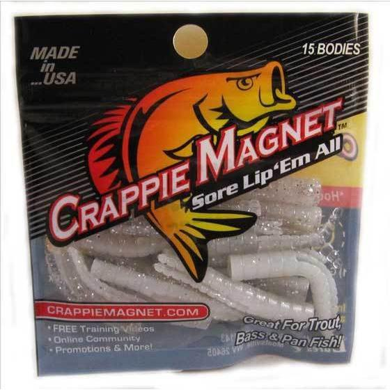 "Leland Crappie Magnet 1.5"" 15ct Spicy Mustard-Crappie Baits-Crappie Magnet Baits-Bass Fishing Hub"