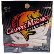 "Leland Crappie Magnet 1.5"" 15ct White-Crappie Baits-Crappie Magnet Baits-Bass Fishing Hub"