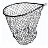 "Mid Lakes Black Landing Net 16"" x 18""-Accessories-Mid-Lakes Nets-Bass Fishing Hub"