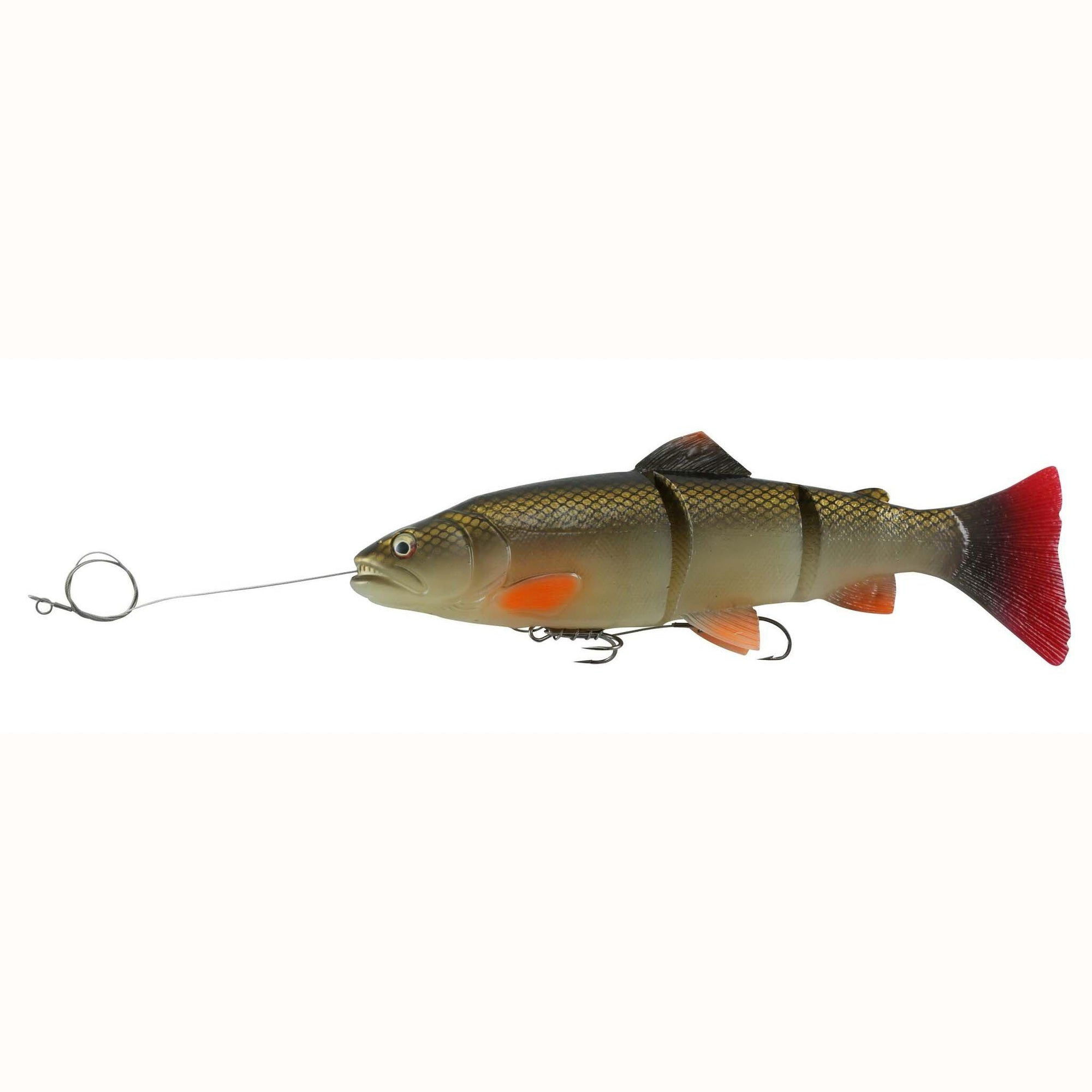 "Savage Gear PreRigged Line Thru Swimbait 12"" 10.75oz Red Horse Sucker-Swimbaits-Savage Gear Baits-Bass Fishing Hub"