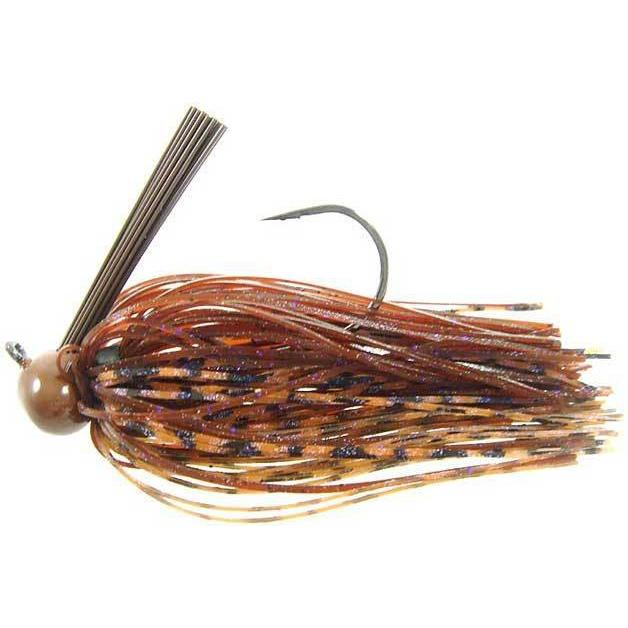 Strike King Football Jig 1-4oz Peanut Butter & Jelly DWO-Jigs-Strike King Baits-Bass Fishing Hub