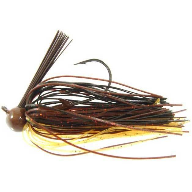 Strike King Football Jig-Jigs-Strike King Baits-Black Brown Amber-3/4oz-Bass Fishing Hub