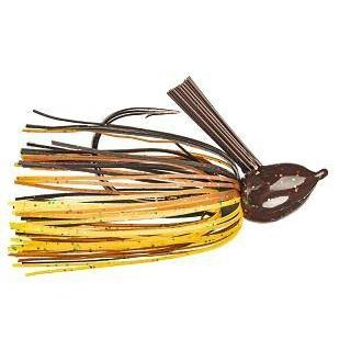 Strike King Hack Attack Fluro Jig 1-2oz Black-Brown-Amber-Jigs-Strike King Baits-Bass Fishing Hub