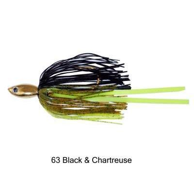 Strikezone V-Blade 3-8 Black Chartreuse DWO-Spinnerbaits-Strikezone Baits-Bass Fishing Hub