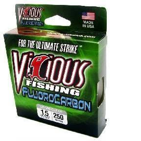 Vicious Fluorocarbon Clear-Fishing Line-Vicious Line-10lb-Bass Fishing Hub
