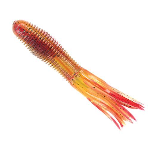 "Yum V.K. Tube 4.25"" 8ct Red Shad Chartreuse DWO-Soft Baits-Yum Baits-Bass Fishing Hub"