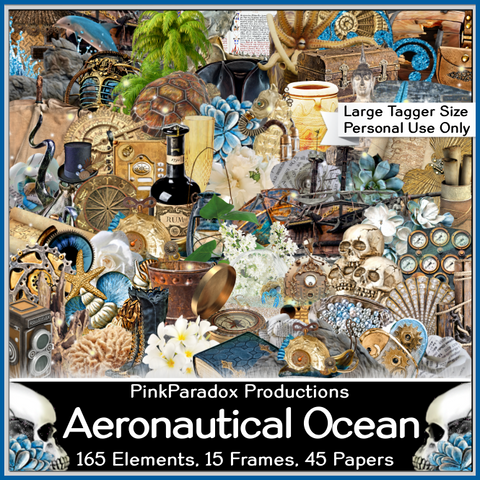 Pink Paradox Aeronautical Ocean Scrap Kit