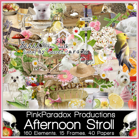 Pink Paradox Afternoon Stroll Scrap Kit