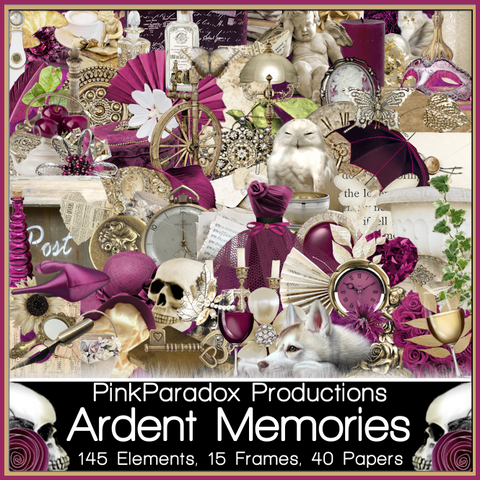 Pink Paradox Ardent Memories Scrap Kit