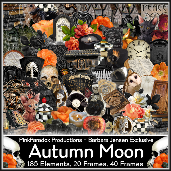 Pink Paradox Autumn Moon Scrap Kit