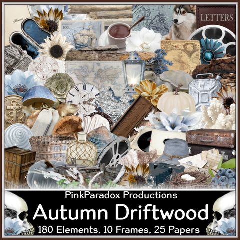 Pink Paradox Autumn Driftwood Scrap Kit