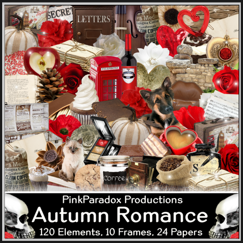 Pink Paradox Autumn Romance Scrap Kit