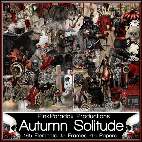 Pink Paradox Autumn Solitude Scrap Kit