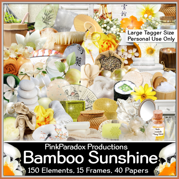 Pink Paradox Bamboo Sunshine Scrap Kit