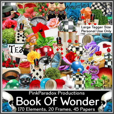 Pink Paradox Book Of Wonder Scrap Kit