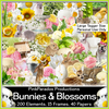 Pink Paradox Bunnies and Blossoms Scrap Kit