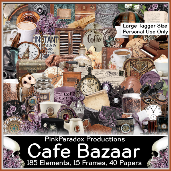 Pink Paradox Cafe Bazaar Scrap Kit