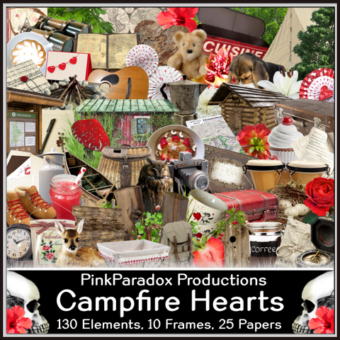 Pink Paradox Campfire Hearts Scrap Kit