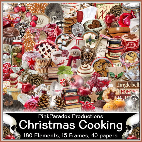 Pink Paradox Christmas Cooking Scrap Kit