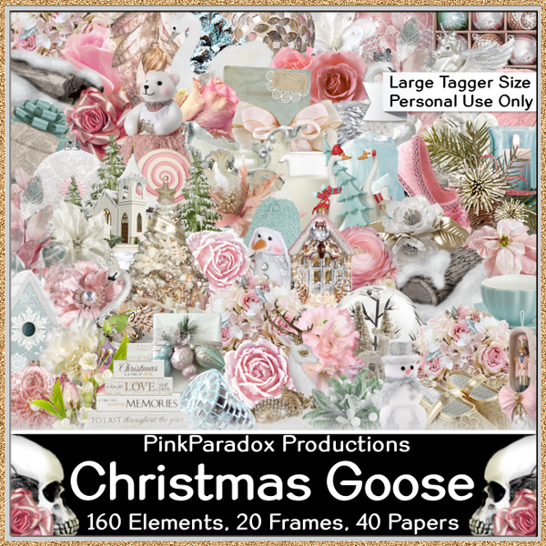 Pink Paradox Christmas Goose Scrap Kit