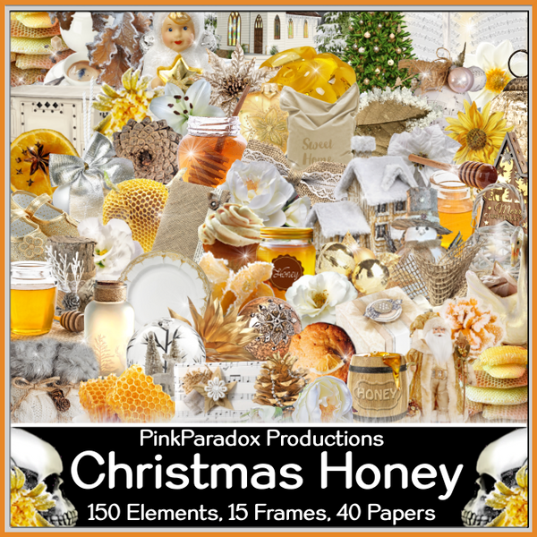 Pink Paradox Christmas Honey Scrap Kit