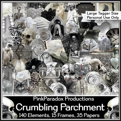 Pink Paradox Crumbling Parchment Scrap Kit