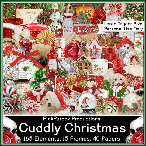 Pink Paradox Cuddly Christmas Scrap Kit