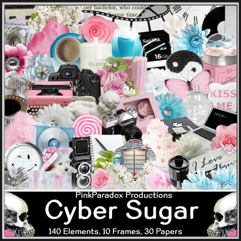 Pink Paradox Cyber Sugar Scrap Kit