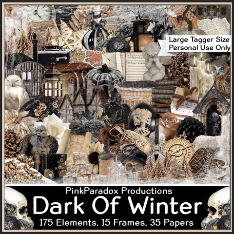 Pink Paradox Dark Of Winter Scrap Kit