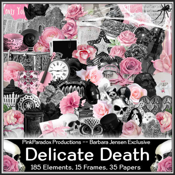 Pink Paradox Delicate Death Scrap Kit