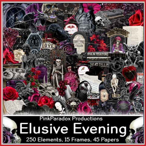 Pink Paradox Elusive Evening Scrap Kit