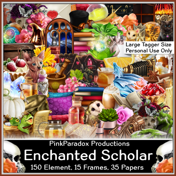 Pink Paradox Enchanted Scholar Scrap Kit