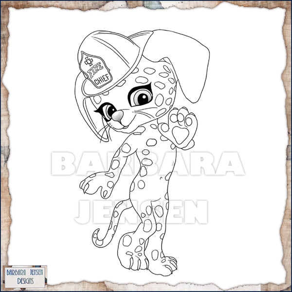 Fire Pup Coloring Page