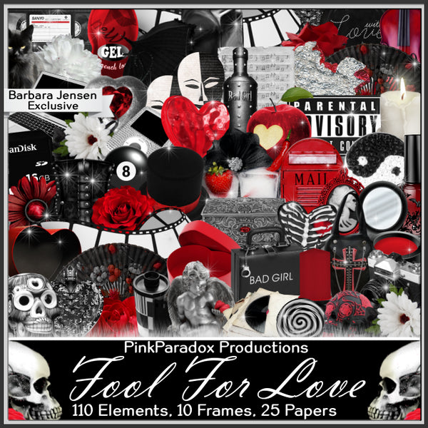 Pink Paradox Fool For Love Scrap Kit