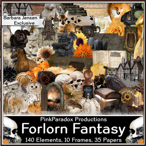 Pink Paradox Forlorn Fantasy Scrap Kit